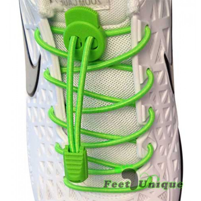 3mm Elastiska skosnören - Gröna