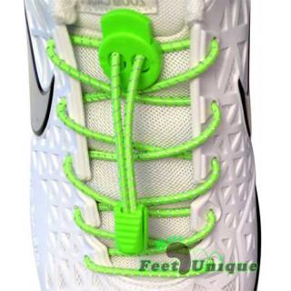3 mm Elastiska skosnören - Gröna, reflex