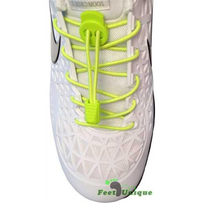 3mm Elastiska skosnören - Neongula