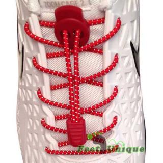 3mm Elastiska skosnören - Röda, reflex