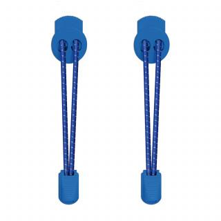 3mm Elastiska skosnören - Blå, reflex