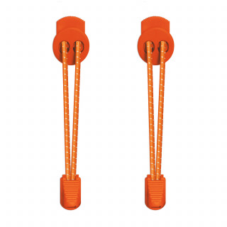 3mm Elastiska skosnören - Orange, reflex