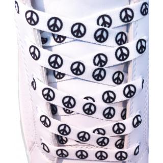 Skosnören - 10mm Peacemärke Vit