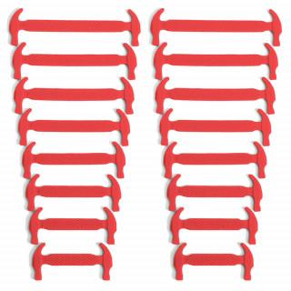 Röda elastiska silkonskosnören (No-tie)