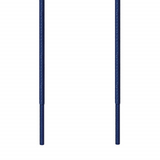 Thin round navy blue shoelaces