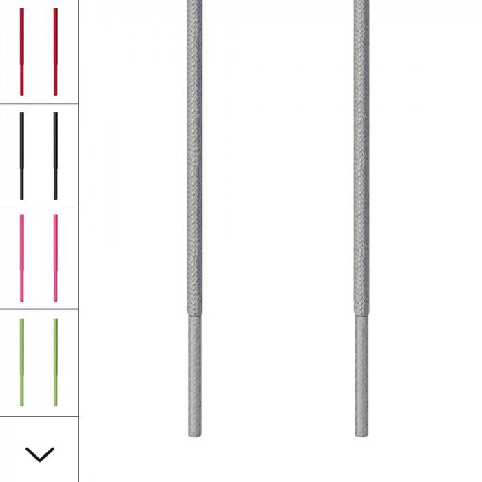Skosnören – 3mm Ljusgrå