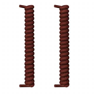 Mörkbruna spiralskosnören