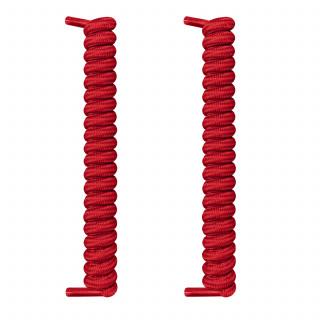 Röda spiralskosnören