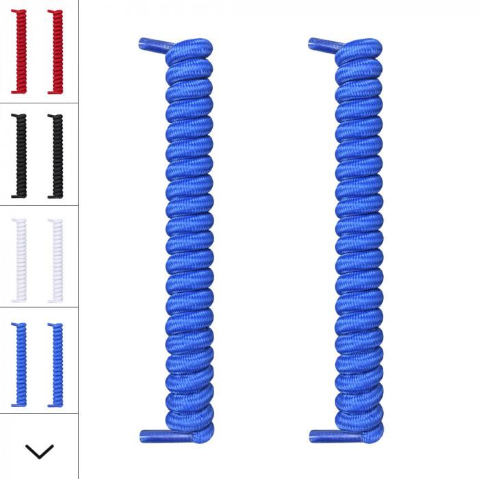 Blå spiralskosnören
