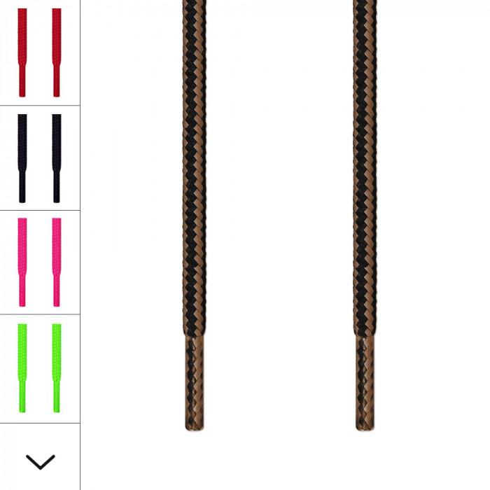 Round black & light brown laces