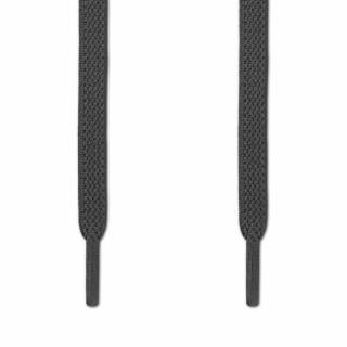 Elastiska platta mörkgrå skosnören (knytfria)
