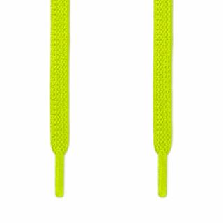 Elastiska platta neongula skosnören (knytfria)