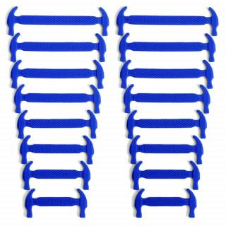 Blå elastiska silkonskosnören (No-tie)