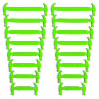 Neongröna elastiska silkonskosnören (No-tie)