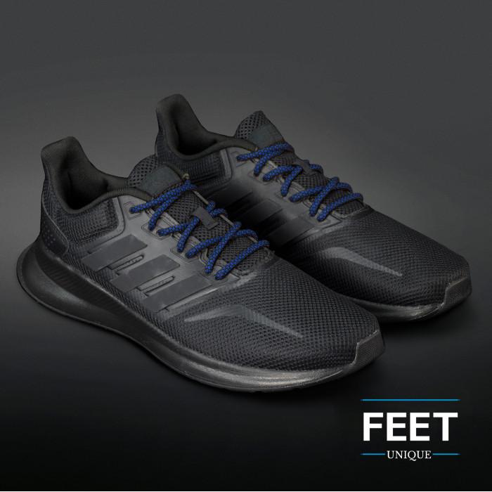 Adidas Yeezy - Skosnören Svarta och Blåa
