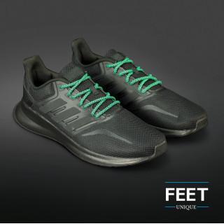 Adidas Yeezy - Skosnören Svarta och Gröna