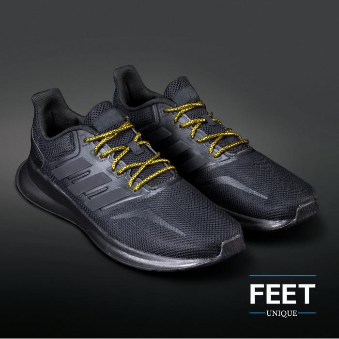 Adidas Yeezy - Skosnören Svarta och Guld