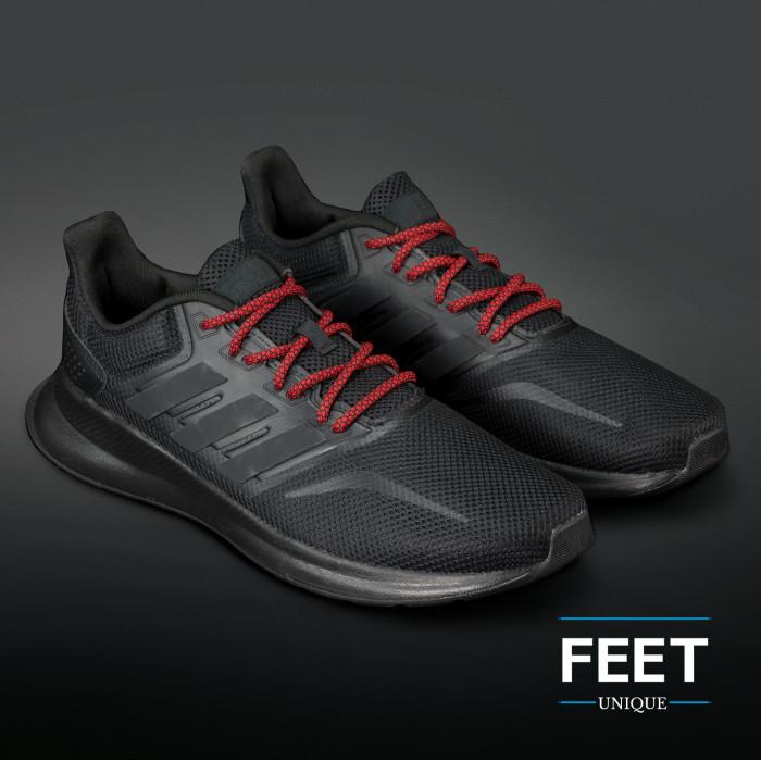Adidas Yeezy - Skosnören Svarta och Röda