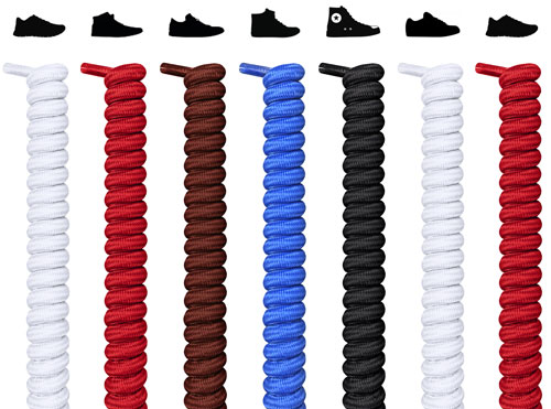 Spiral shoelaces